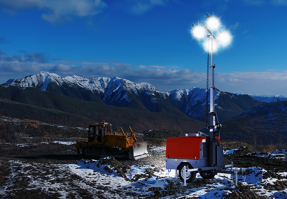DAE Pumps Site M4 Mobile Light Tower