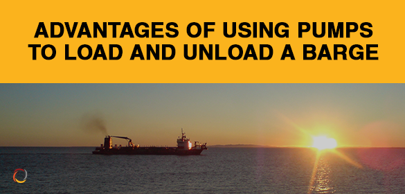 Advantages of Using Pumps to Load and Unload A Barge