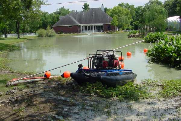 Mini Dredge - Small Dredge for Ponds and Docks - Sediment
