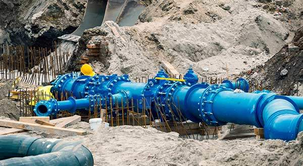 dewatering pumps in construction site